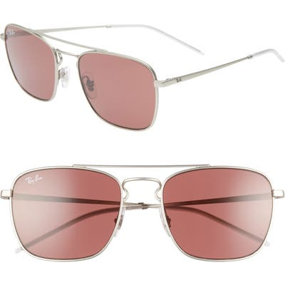 Ray-Ban 55Mm Square Sunglasses - Silver