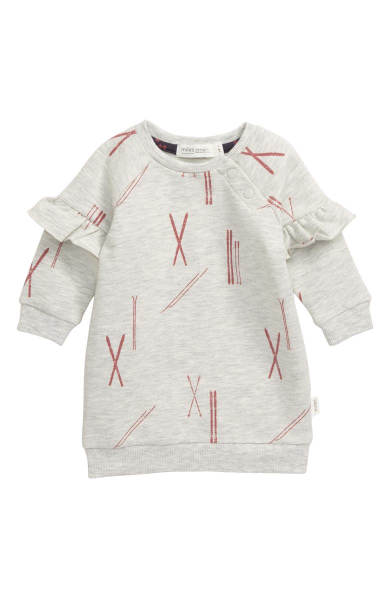 MILES baby Print Sweatshirt Dress, Main, color, 059