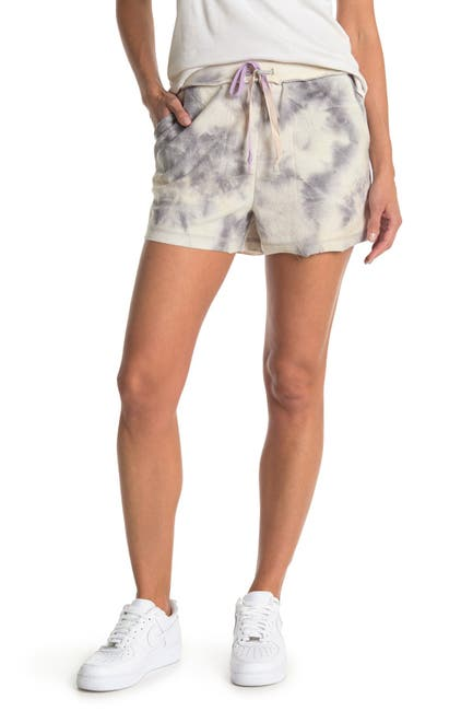 Image of Kirious Tie Front Pocket Tie Dye Shorts