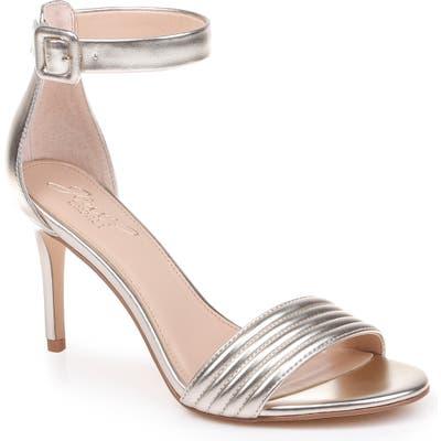 Jewel Badgley Mischka Kristina Ankle Strap Sandal- Metallic