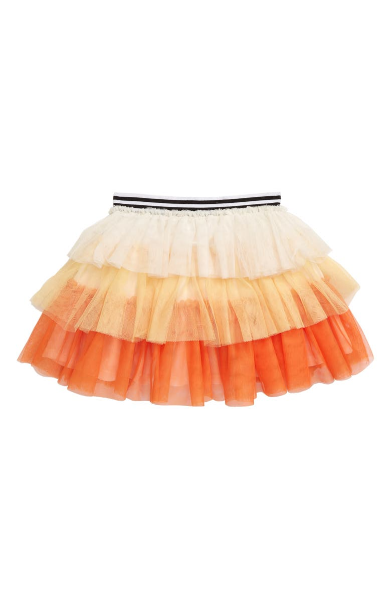 TRULY ME Candy Corn Tiered Tulle Skirt, Main, color, YELLOW