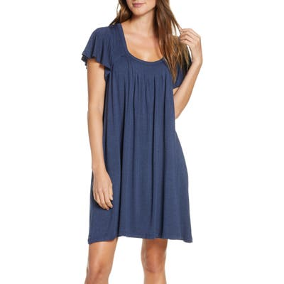 Papinelle Flutter Sleeve Nightgown, Blue