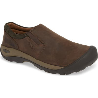 Keen Austin Water Resistant Slip-On Sneaker- Brown