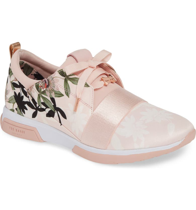 TED BAKER LONDON Cepap Sneaker, Main, color, PINK ILLUSION SUEDE/ SATIN