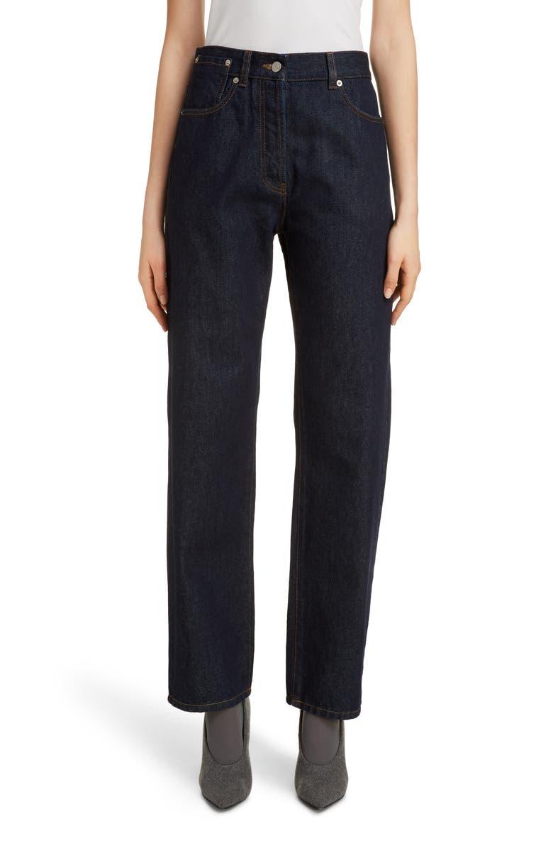 DRIES VAN NOTEN Pisco High Waist Straight Leg Jeans, Main, color, INDIGO