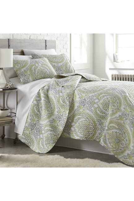 Image of SOUTHSHORE FINE LINENS Full/Queen Luxury 3-Piece Quilt Cover Set - Melody Green