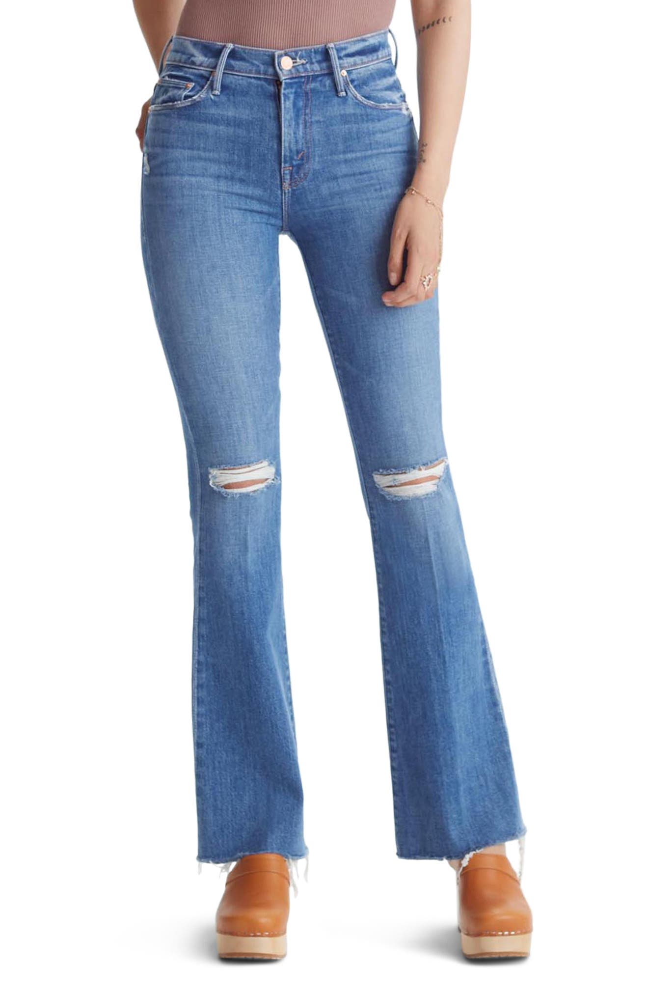 Image of MOTHER The Weekend Ripped Ankle Fray Jeans