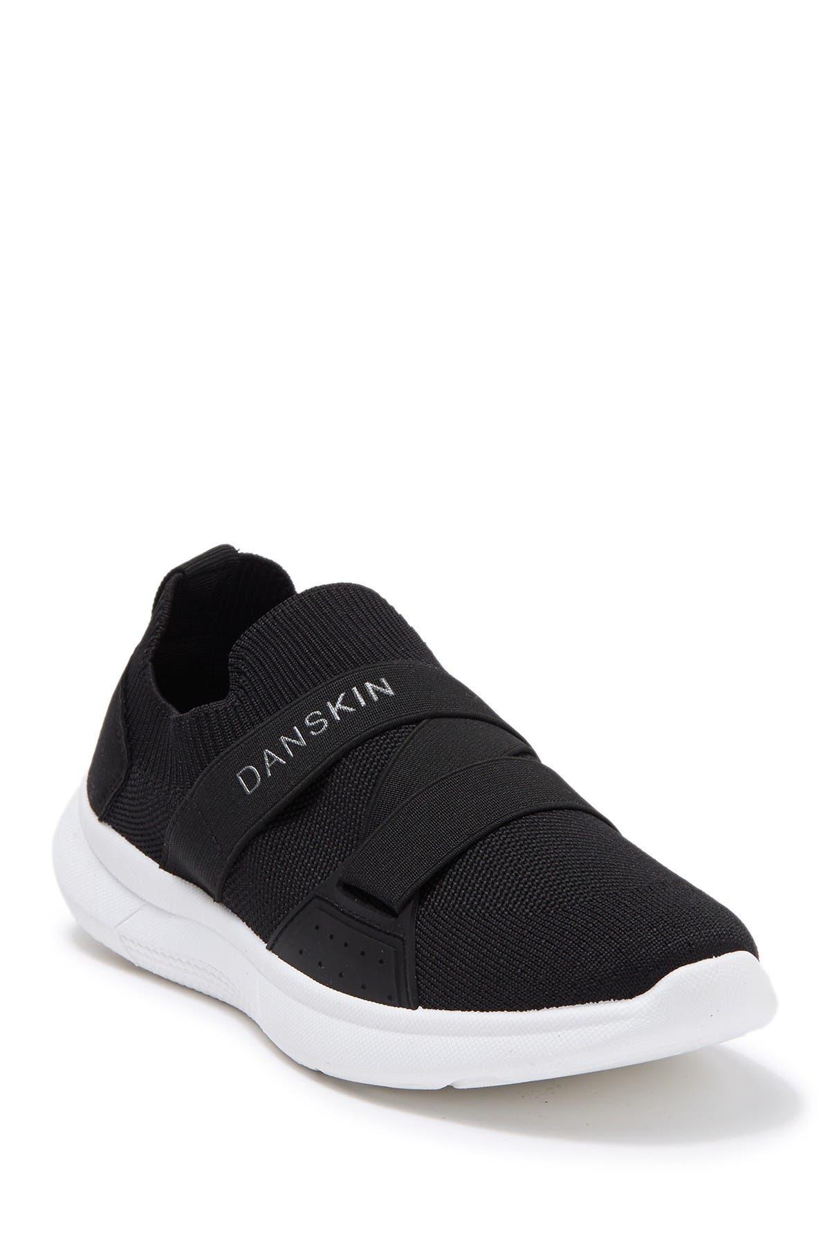 Image of DANSKIN Sock Knit Cross Band Slip-On Sneaker