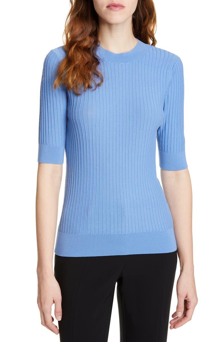 SUISTUDIO Randy Ribbed Cotton Blend Sweater, Main, color, 400