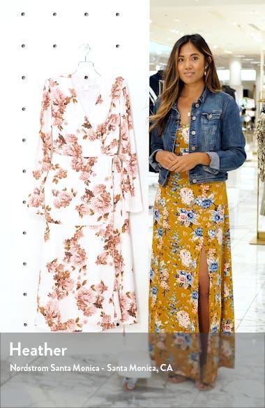 Long Sleeve Wrap Midi Dress, sales video thumbnail