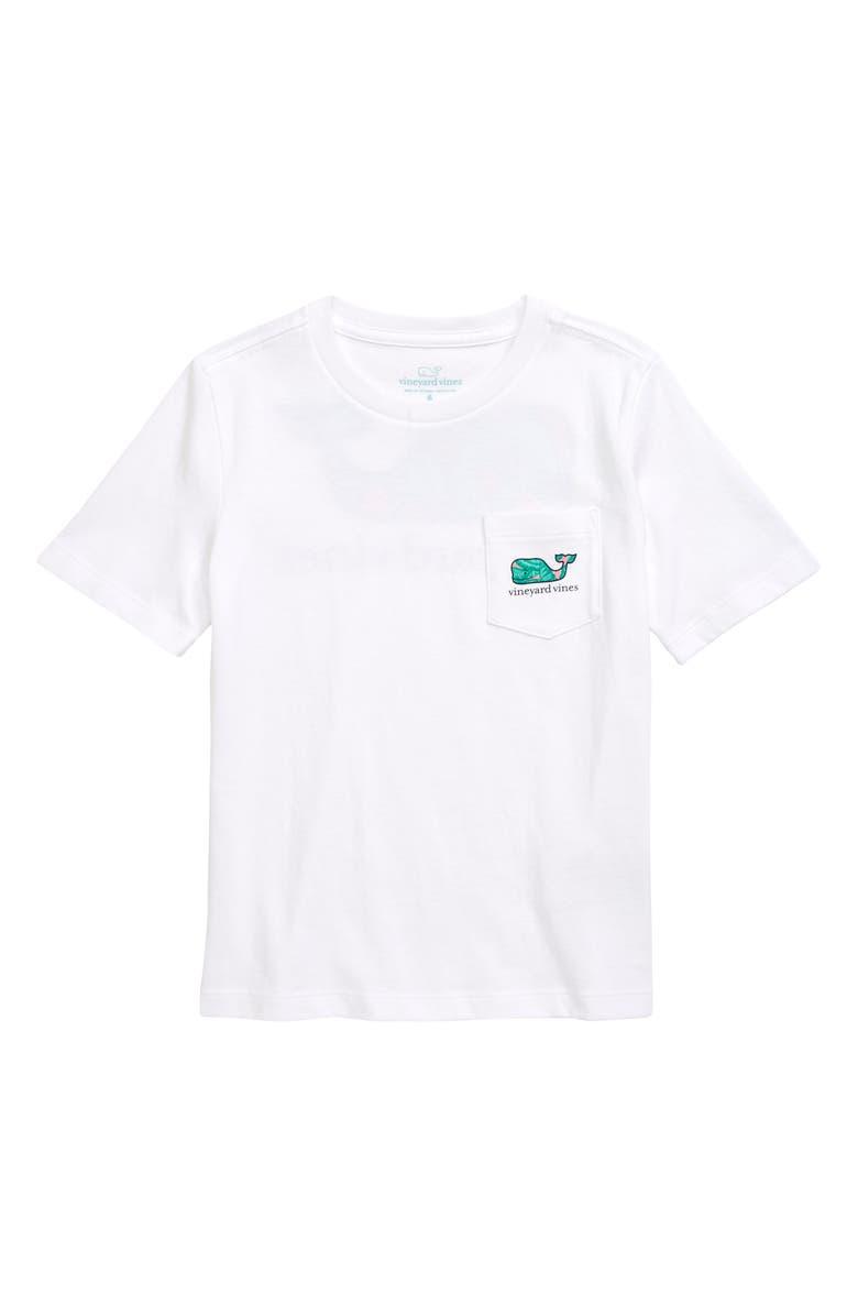 VINEYARD VINES Palm Whale Pocket Graphic Tee, Main, color, WHITE CAP