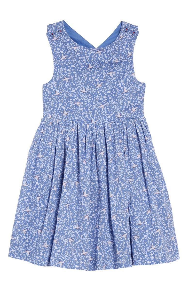 MINI BODEN Cross Back Dress, Main, color, 454