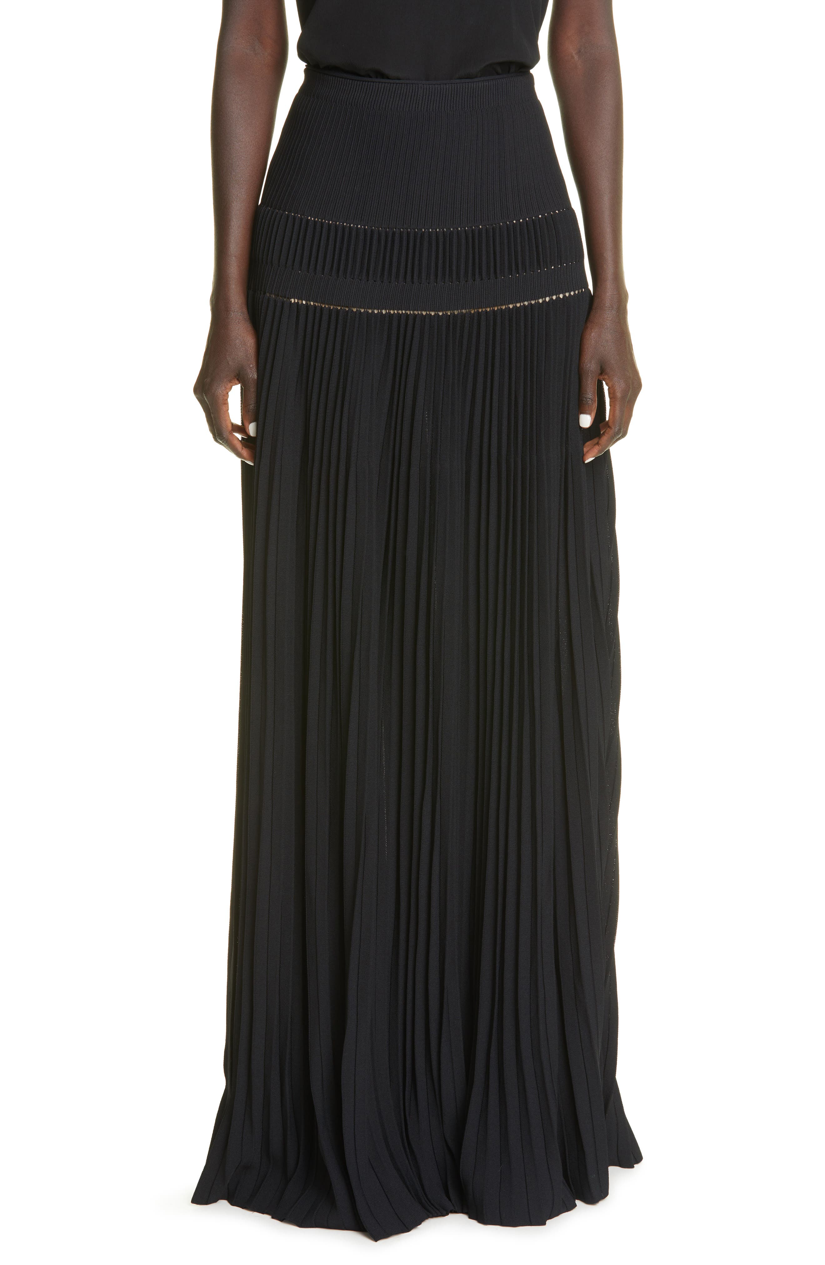 Tosca Pleated Jersey Skirt