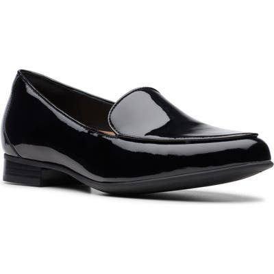 Clarks Un Blush Step Loafer, Black