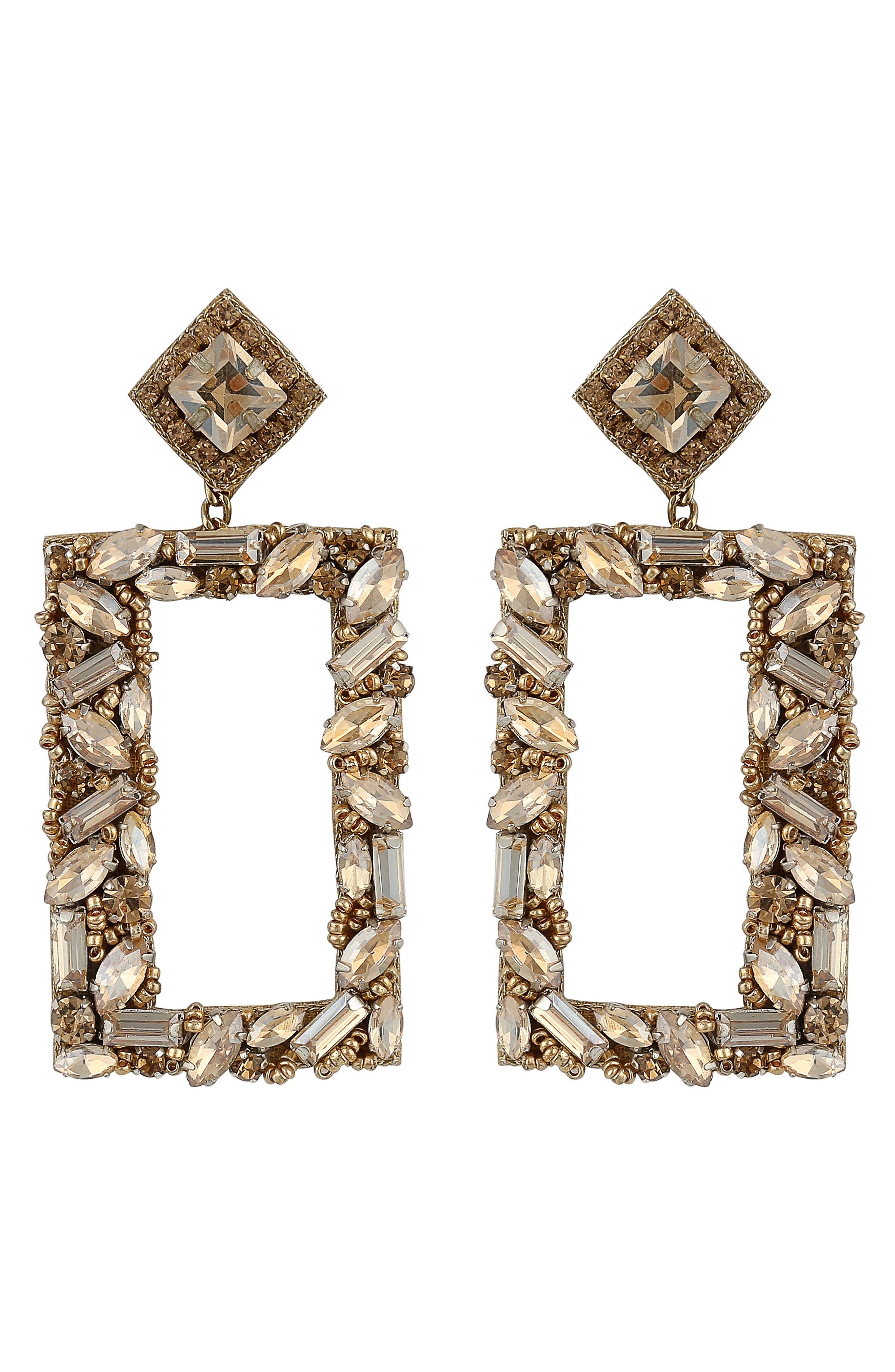 Avalon Rectangle Drop Earrings