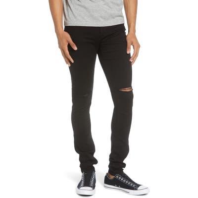 Monfrere Greyson Skinny Fit Jeans, Black