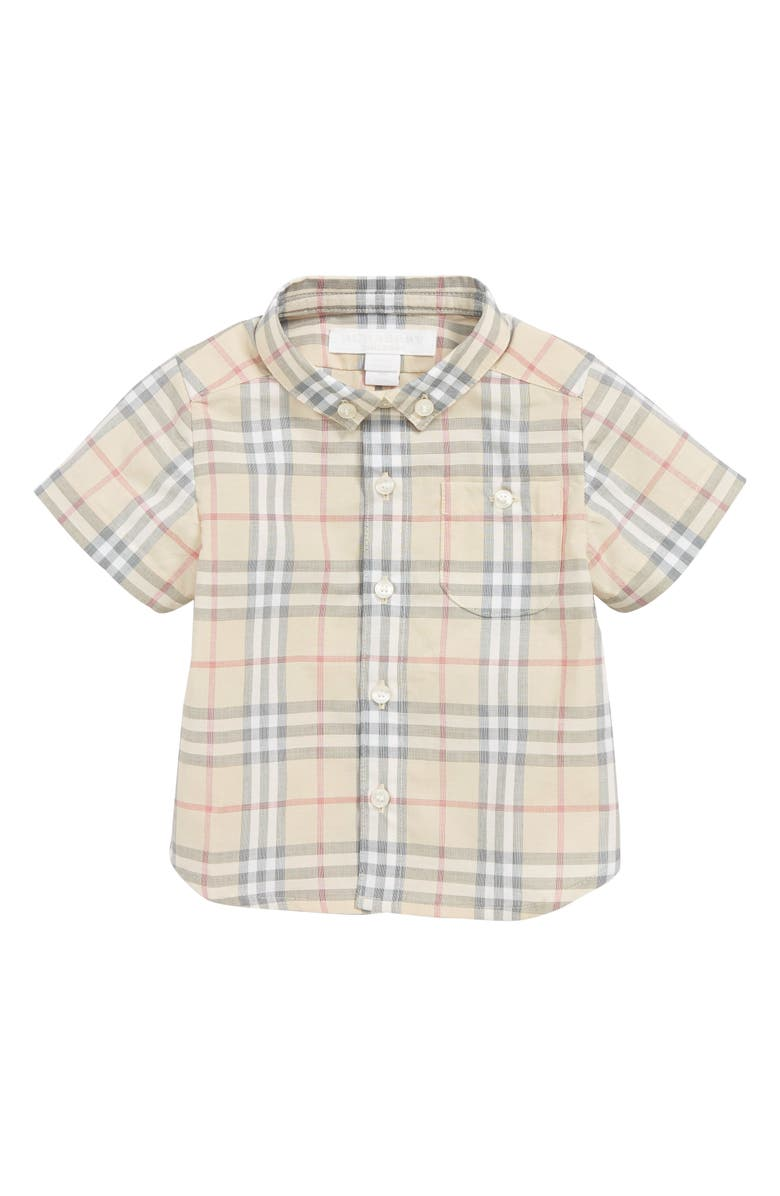 BURBERRY Traul Check Woven Shirt, Main, color, PALE STONE IP CHECK