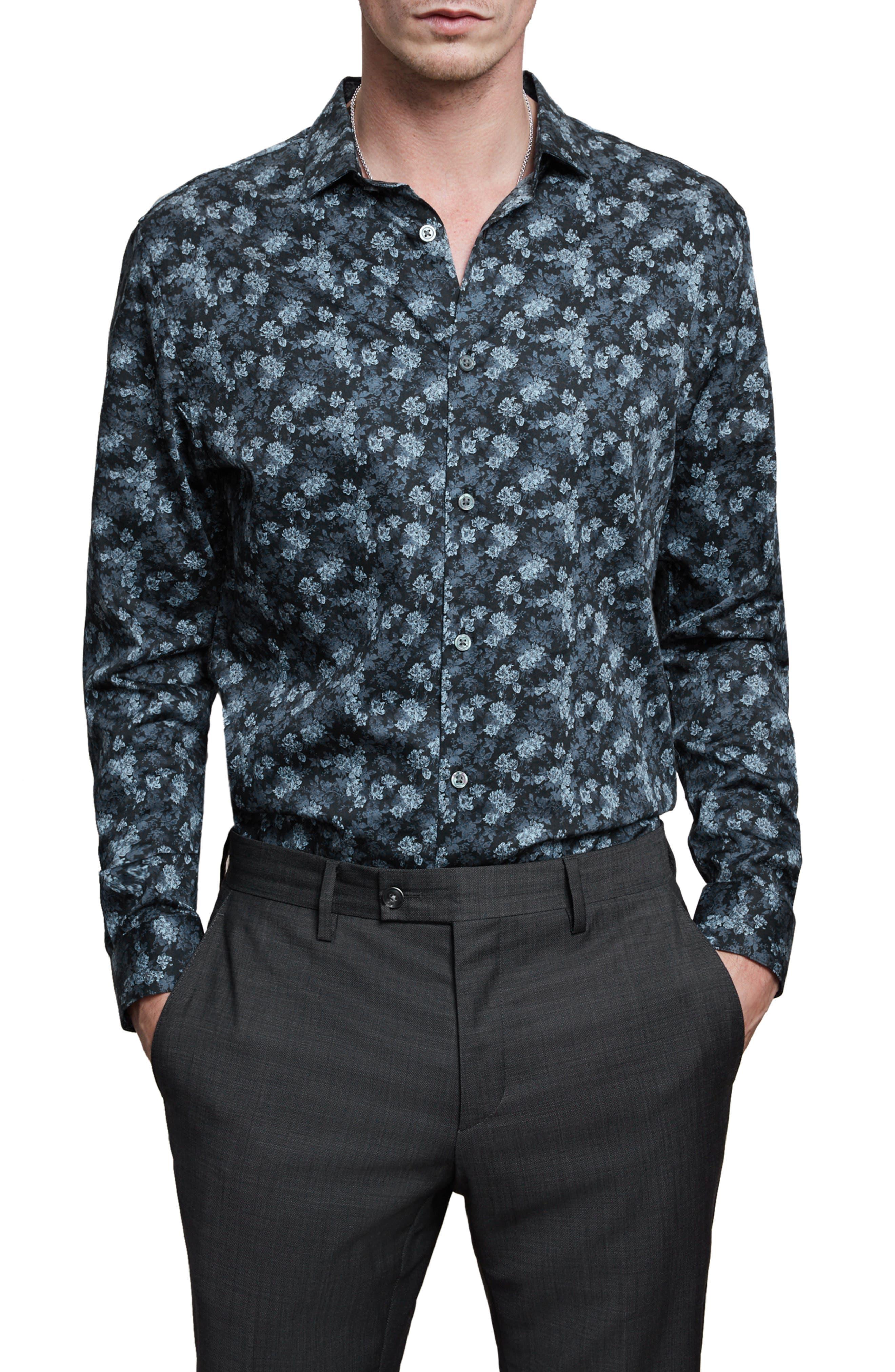 Ross Slim Fit Button-Up Sport Shirt