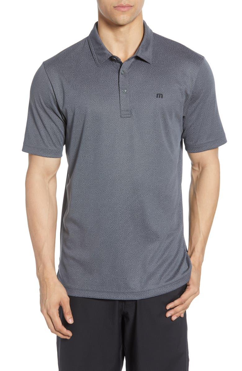 TRAVISMATHEW Regular Fit Piqué Polo, Main, color, GREY PINSTRIPE