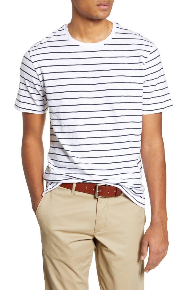 1901 Stripe T-Shirt, Main, color, WHITE NAVY STRIPE