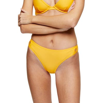 Topshop Grommet Bikini Bottoms, US (fits like 0-2) - Orange