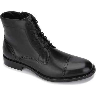 Kenneth Cole Reaction Kelby Cap Toe Boot- Black