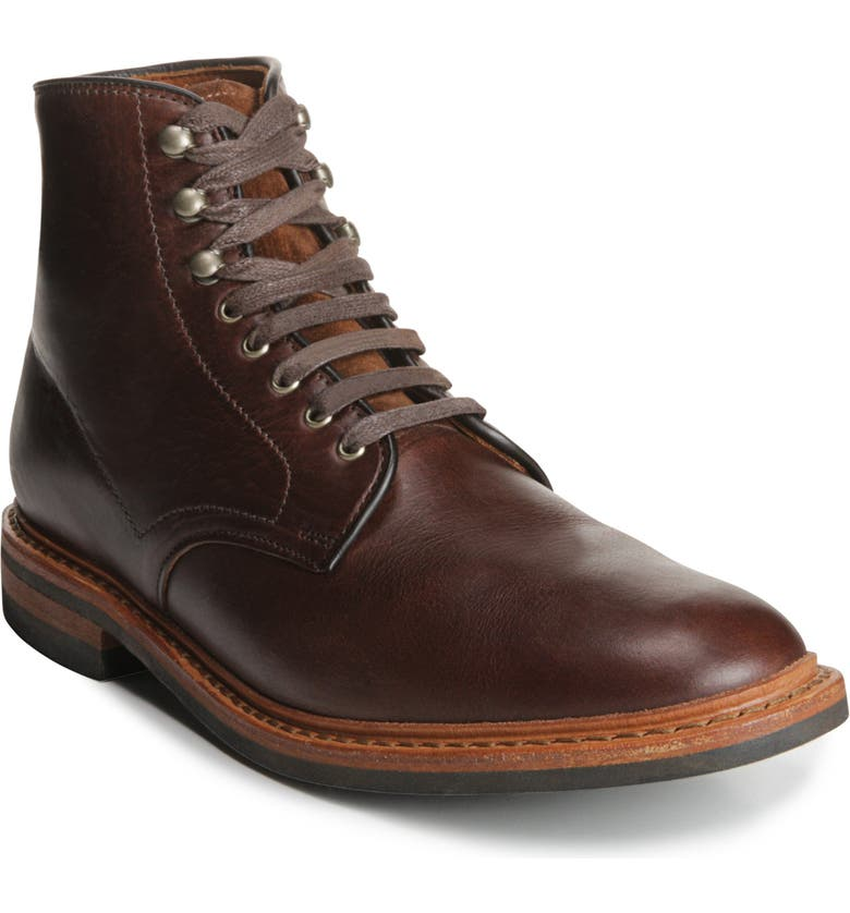 ALLEN EDMONDS Higgins Mill Plain Toe Boot, Main, color, BROWN CHROMEXEL LEATHER