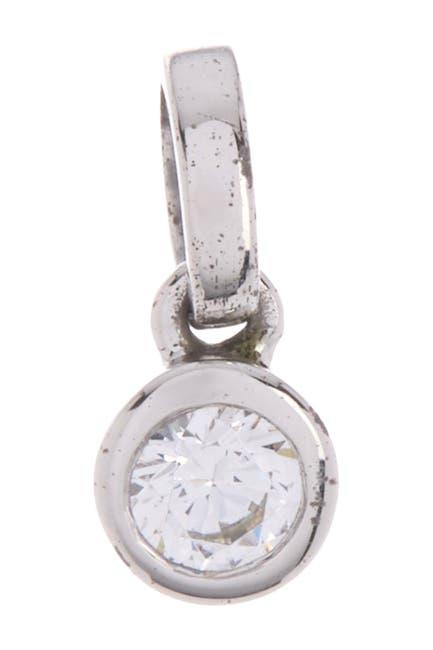 Image of BREUNING Sterling Silver 3.0mm Bezel Set Round CZ Pendant