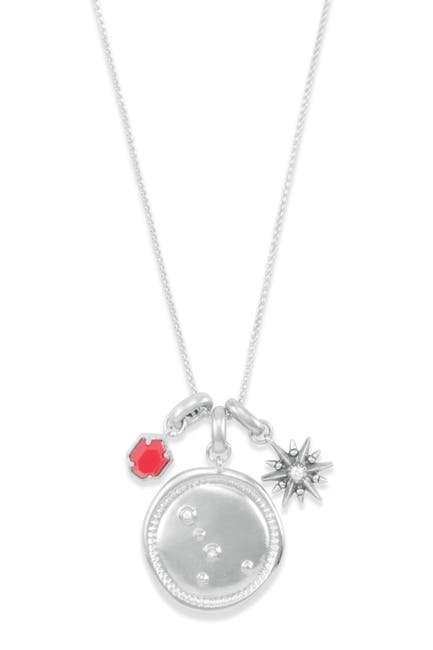 Image of Kendra Scott Rhodium Plated Cancer Charm Necklace