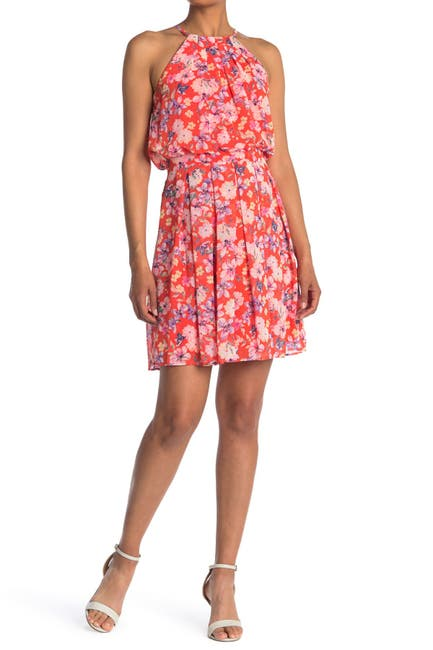 Image of Eliza J Halter Fit & Flare Mini Dress