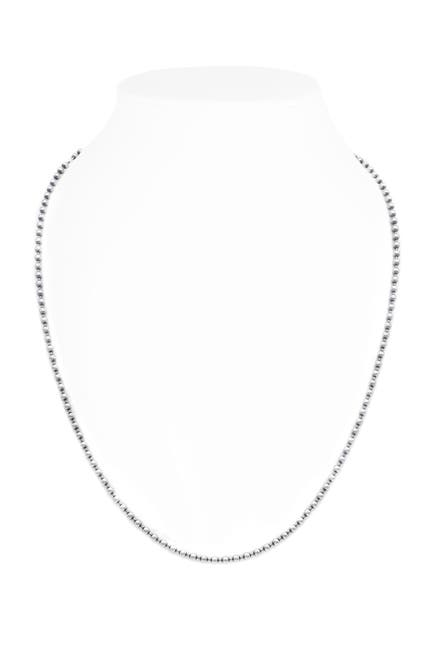 Image of DEVATA Sterling Silver Bead Ball Chain Necklace