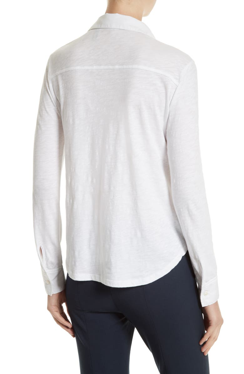 THEORY Riduro C Nebulous Knit Top, Main, color, 100