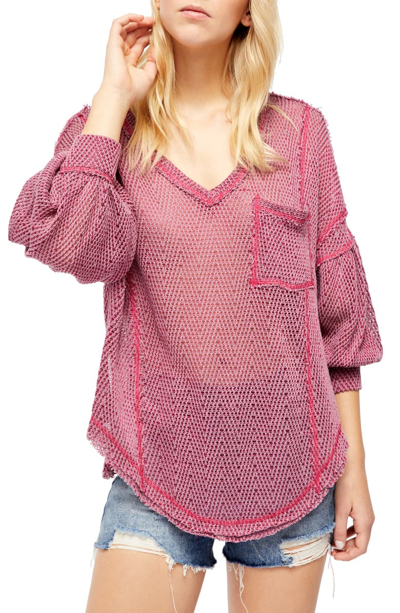 FREE PEOPLE Fresh & New Hacci Knit Top, Main, color, 533