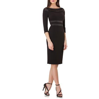 Js Collection Ottoman Illusion Lace Inset Cocktail Dress, Black