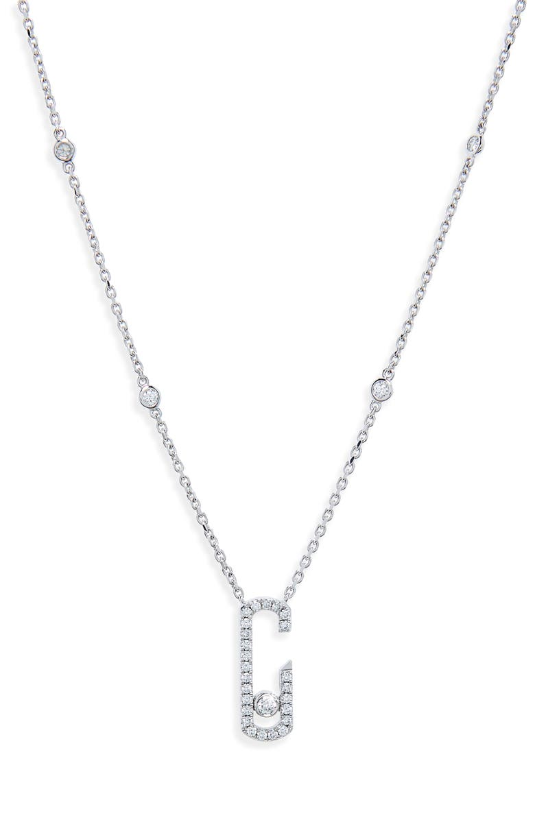 MESSIKA by Gigi Hadid Move Addiction 18K Gold & Diamond Pendant Necklace, Main, color, WHITE GOLD