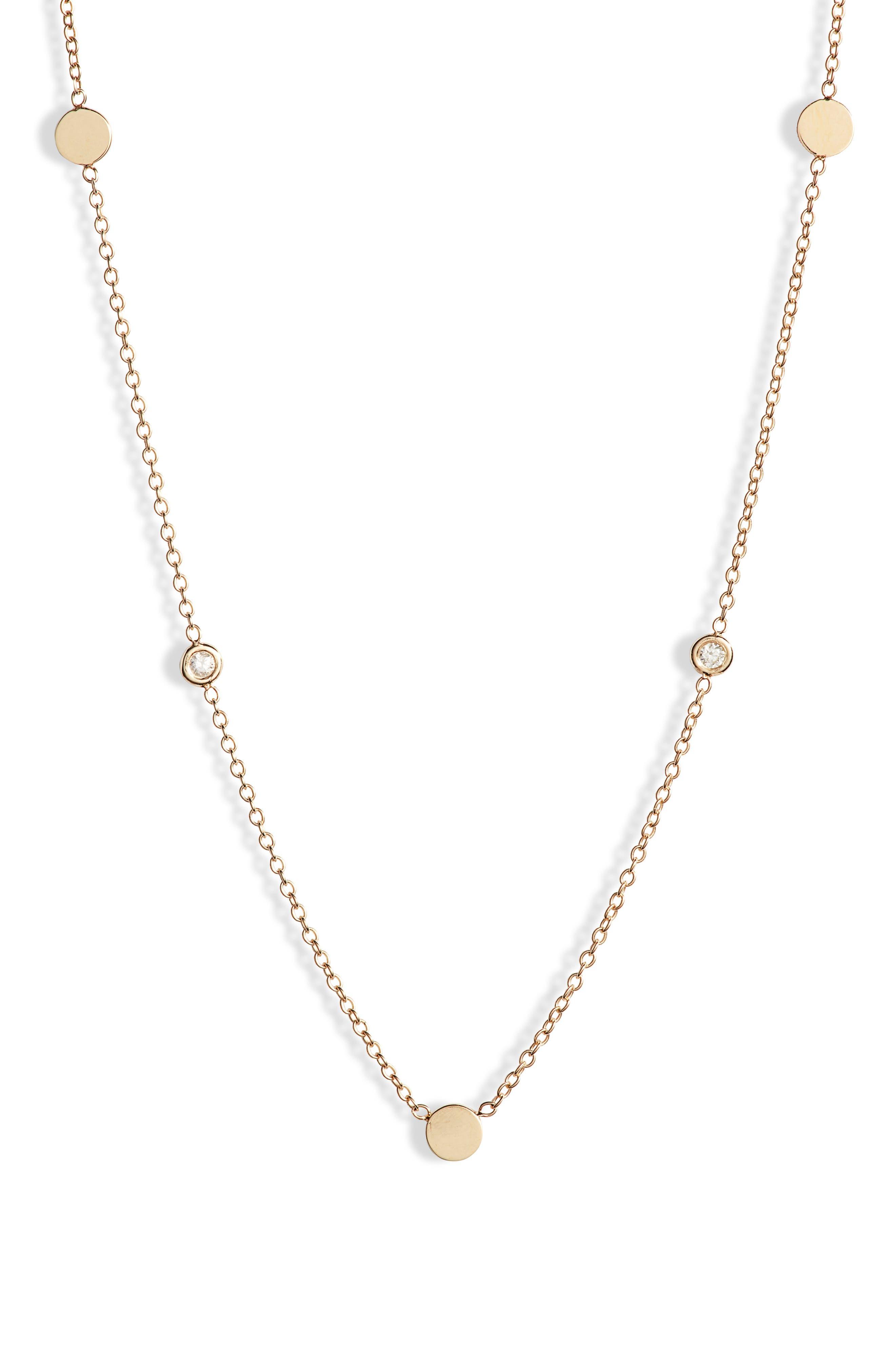 Zoe Chicco Bezel Diamond Necklace