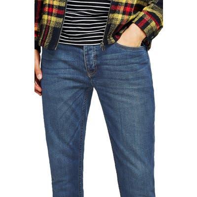 Topman Stretch Skinny Fit Jeans, Blue