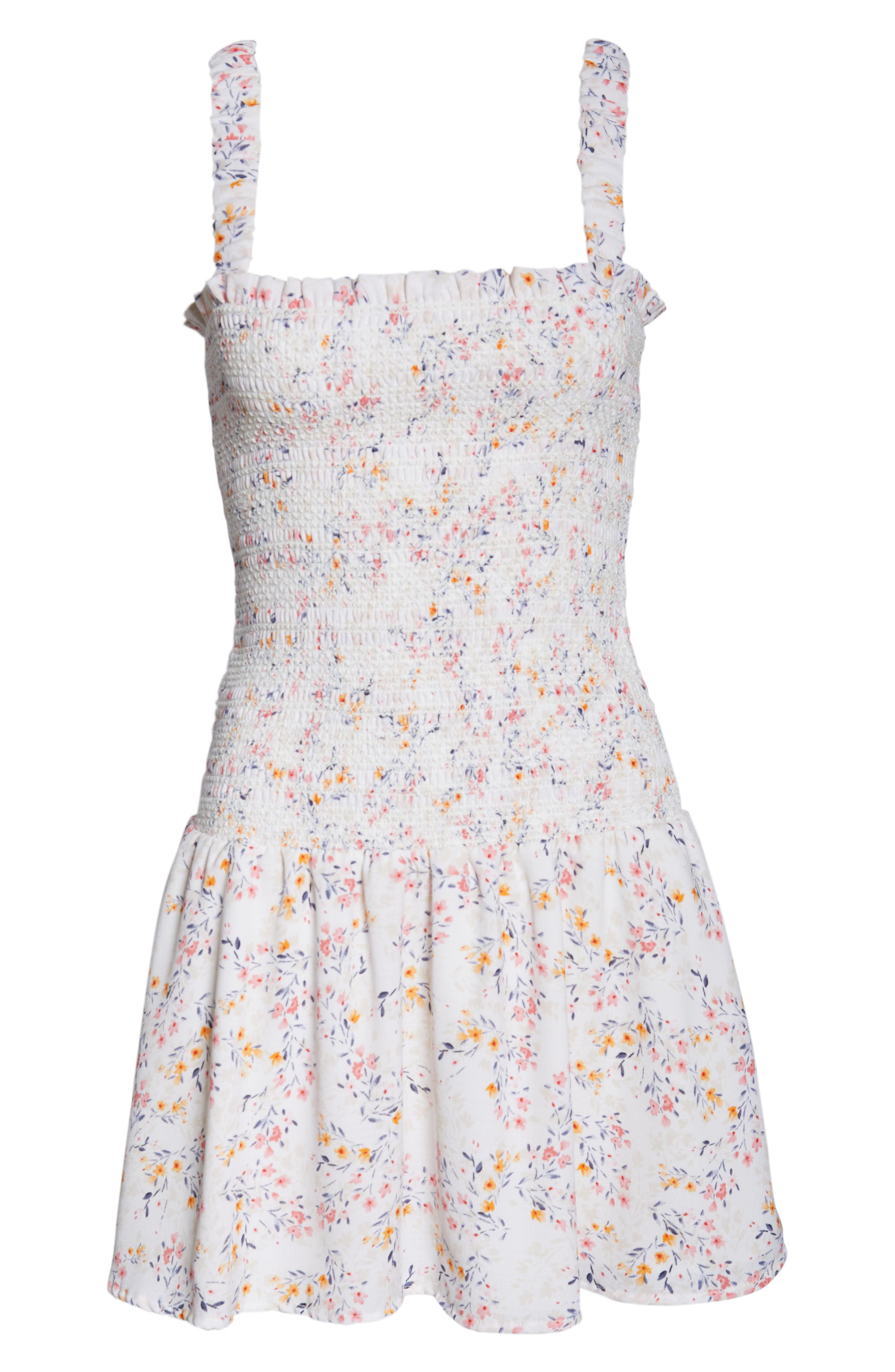 ,                             x Dress Up Buttercup Eastside Luv Floral Minidress,                             Alternate thumbnail 7, color,                             FIELD FLOWERS