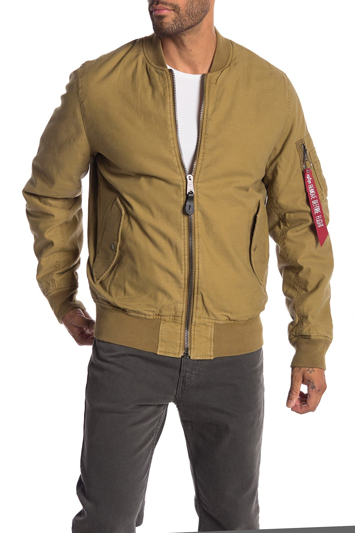 Image of Alpha Industries Mock Neck Reversible Jacket