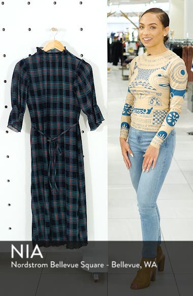 Zone Tartan Midi Dress, sales video thumbnail