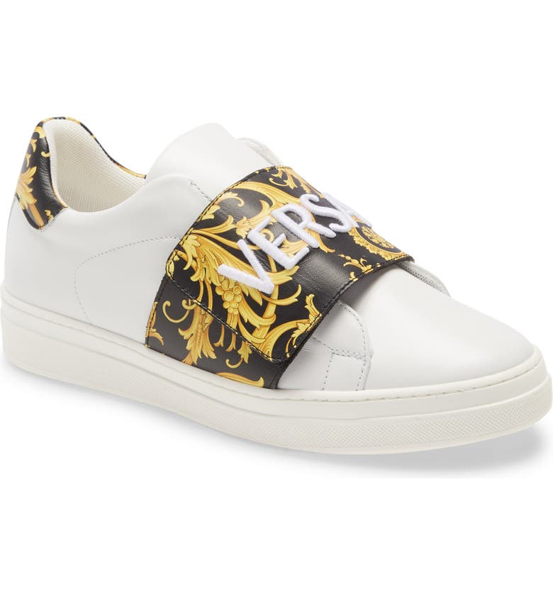 VERSACE FIRST LINE Low-Top Sneaker, Main, color, WHITE