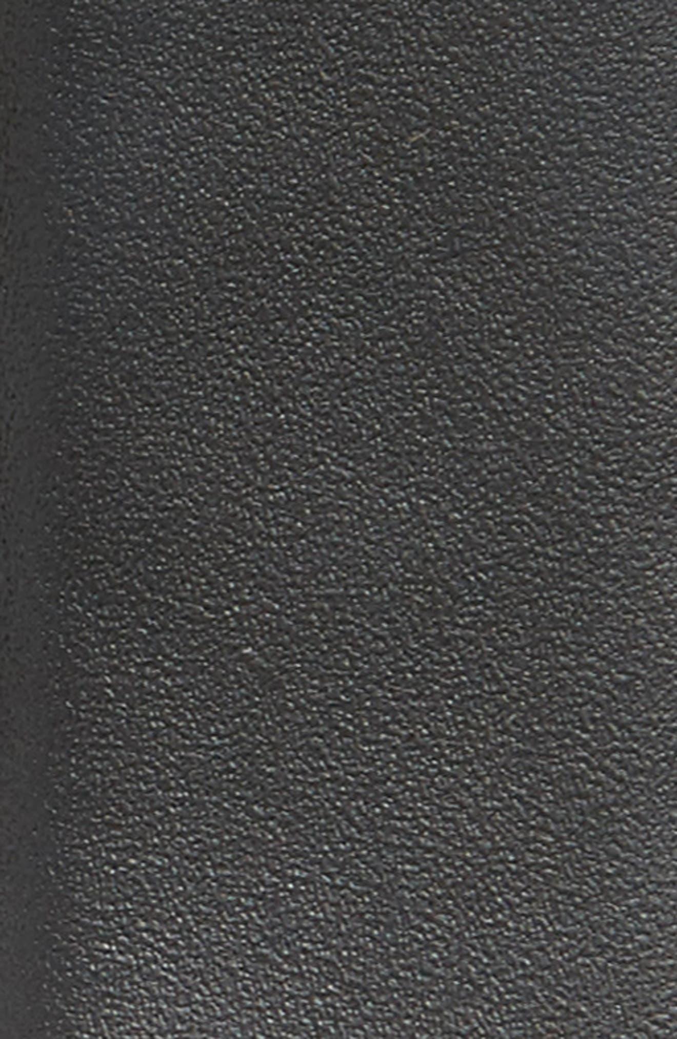 ,                             Double Gancio Leather Belt,                             Alternate thumbnail 2, color,                             BLACK
