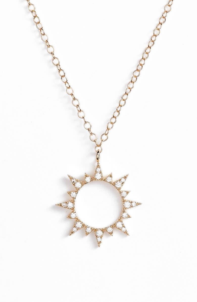 BRACHA Sol Pendant Necklace, Main, color, GOLD