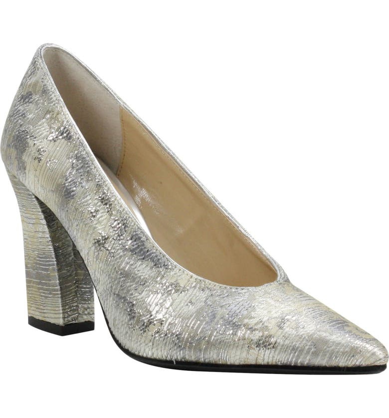J. RENEÉ Madiss Pump, Main, color, SILVER MUTLI FABRIC