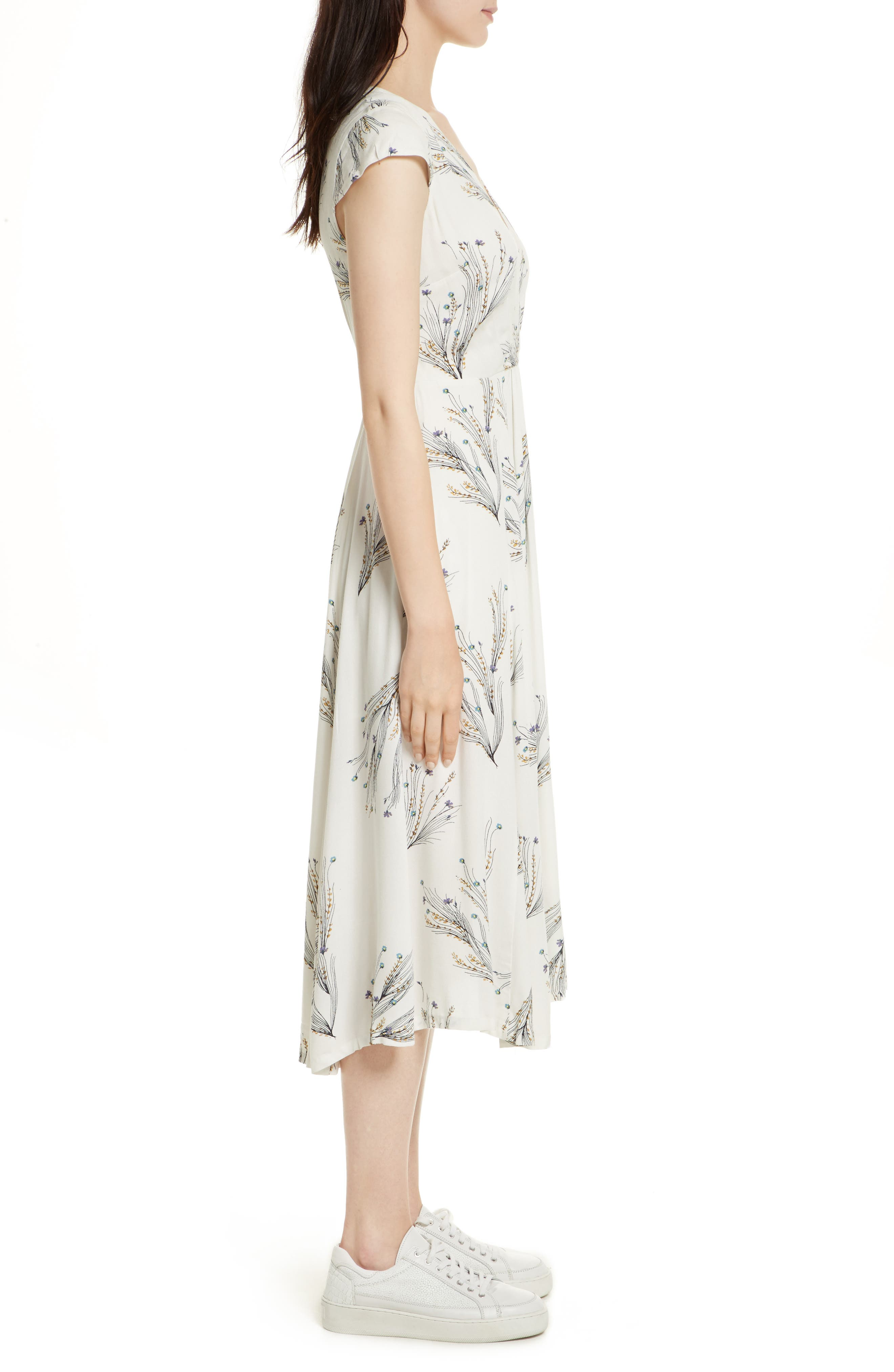 ,                             Print Retro Midi Dress,                             Alternate thumbnail 18, color,                             903