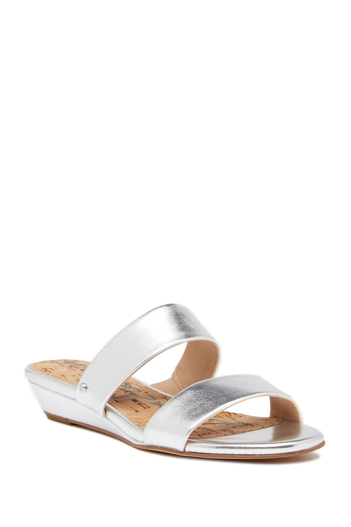 Image of Sam Edelman Lanelle Metallic Slide Sandal