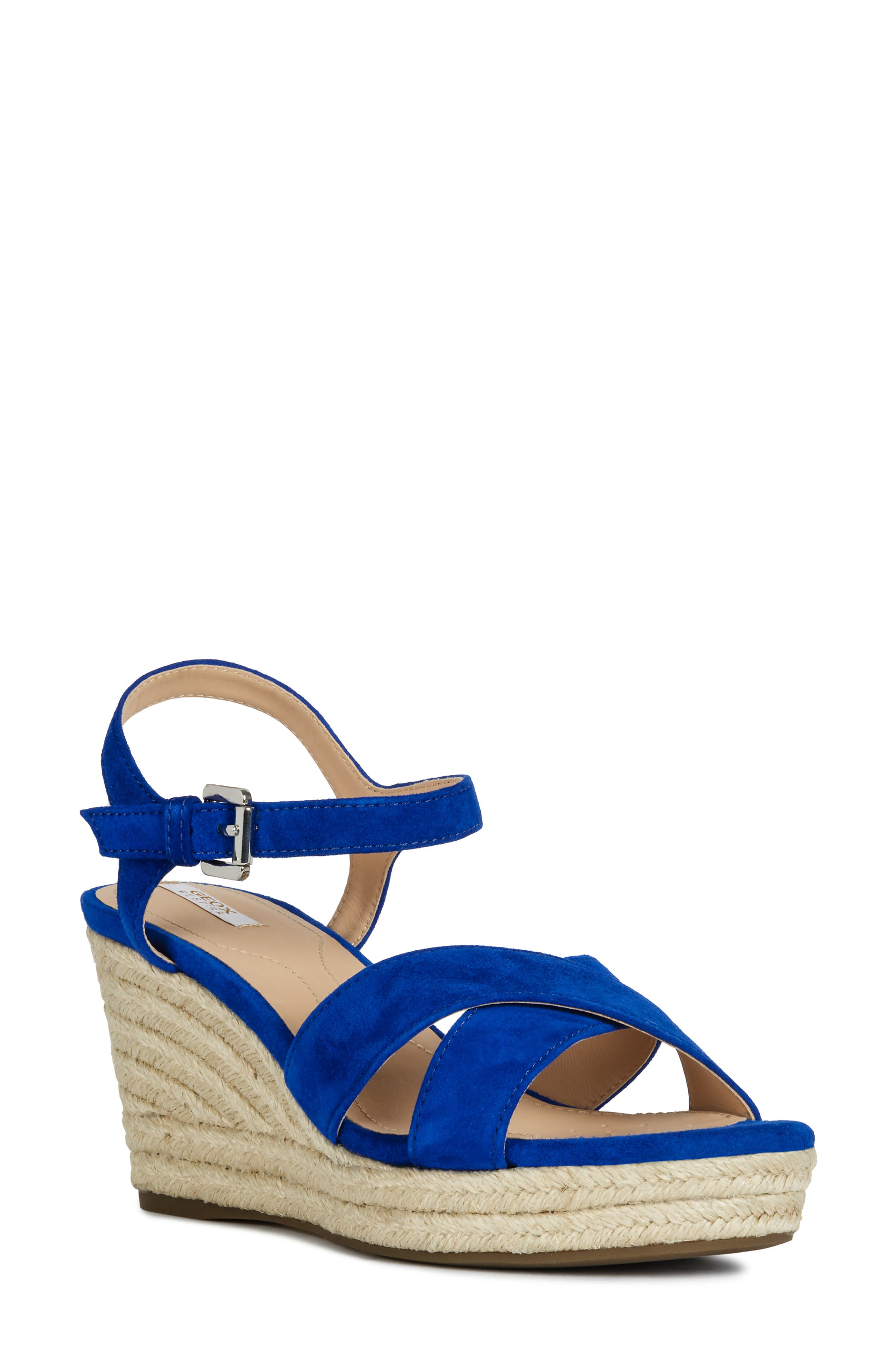 Geox Soleil Wedge Sandal, Blue