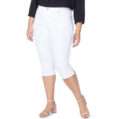 Plus Size Nydj Skinny Capri Jeans, White