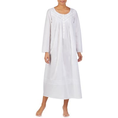 Eileen West Long Sleeve Nightgown, White