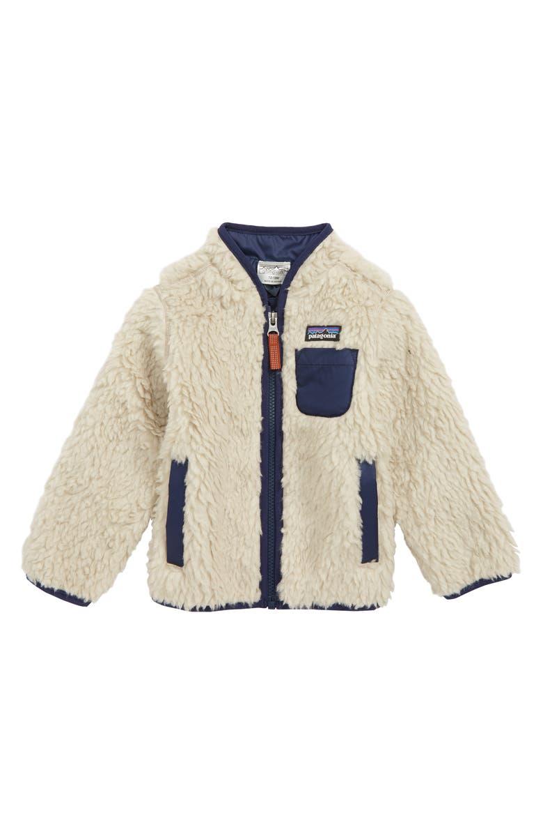 PATAGONIA Retro-X Windproof Jacket, Main, color, NANE NATURAL W/ NEW NAVY